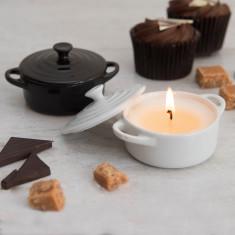 Chocolate Fudge Cake Candle In A Casserole Dish