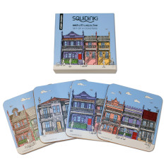 Set of 4 Coasters: Inner City Collection