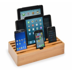 Naturals Large Bamboo Docking & Charging Station