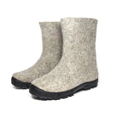 Women's Wool Snow Boots In Deer