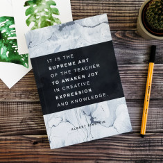 Einstein quote teacher gift journal