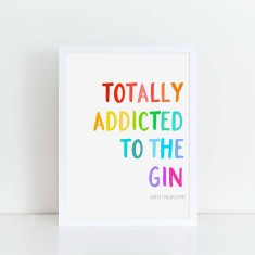 Gym or gin print