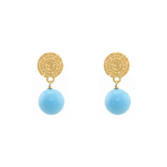 Blue love earrings