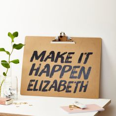 Personalised Make It Happen A3 Clipboard
