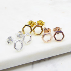 Hexagon Studs (silver/gold/rosegold)