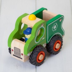 Childrens Wooden Recycling Lorry