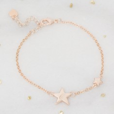Honour Personalised Silver Star Bracelet