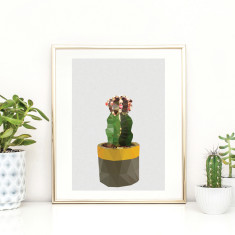 Geometric cactus 1 art print