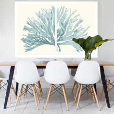Split Coral Canvas Art