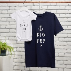 Big Fry, Little Fry T Shirt And Baby Suit Set