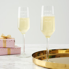Personalised 'Since' Birthday Champagne Flute