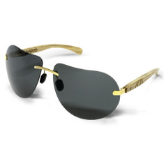 Fento wooden sunglasses in ash gold & grey