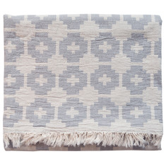 Brita Sweden Flower Cotton Blanket (available in lagoon, mauve and stone)