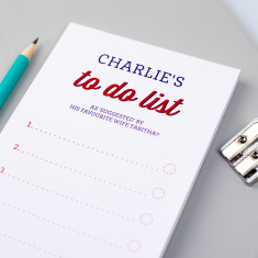 Personalised retro style to do list notepad
