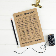 Grandparent poem slim notebook