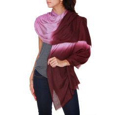 Sequin Amelie Scarf in Vino Tinto