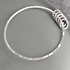 Personalised Things I Love About You Bangle