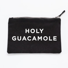 Holy guacamole makeup pouch