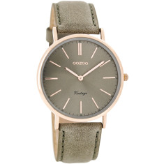 Petite vintage style slimline rose gold watch (blush pink, warm grey,)