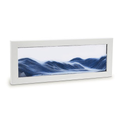 Moving Sand Art in white picture frame