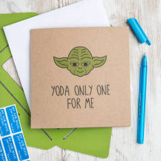 Yoda only one for me (Star Wars greetings card)