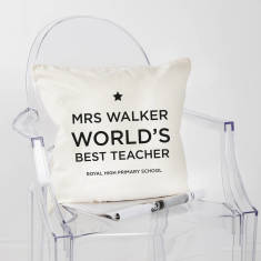 Personalised Thank You Teacher Cushion Cover