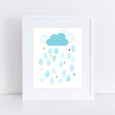 showers of joy baby shower guest book & ink