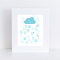 showers of joy baby shower fingerprint guest book
