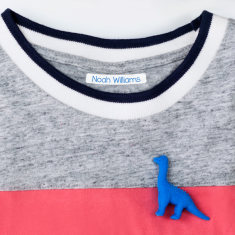Personalised Tiny Iron on Clothing Name Labels - 30 Pack - Various Colours