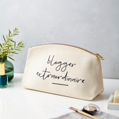 Blogger Extraordinaire Canvas Pouch