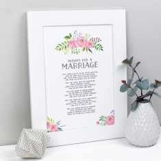 Wedding Present Anniversary Gift Poem Print
