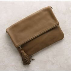 Oversized Clutch In Tan
