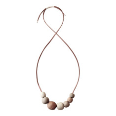 Natural stoneware bubble necklace