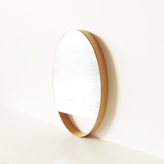 Wa's Objects Oak veneer mirror - oval