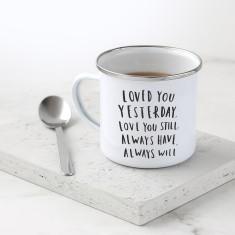 Love Poem Enamel Mug