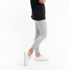 Ankle Zip Legging in Grey Marle