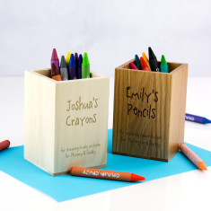 Personalised Kid's Crayon Pot