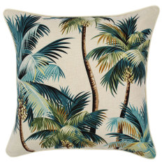 Outdoor cushion in palm trees natural (various sizes)