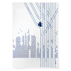 Gumtree Hug linen tea towel