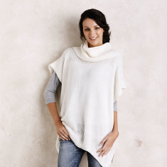 Creme Poncho with Scarf