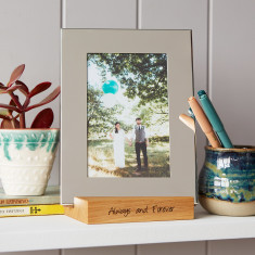Silver Photo Frame With Personalised Stand