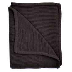 Wave knit luxury cotton baby blanket in charcoal