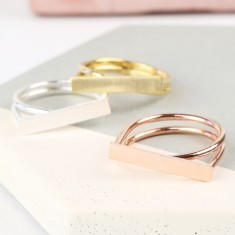 Double Band Bar Ring