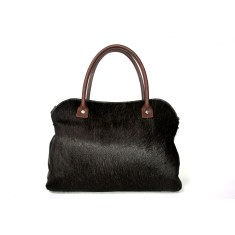 Mina tote bag black cowhide