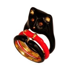 Black cat stack ring