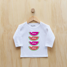 Personalised watermelon long sleeve t-shirt