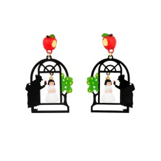 Snow White and the evil Queen earrings