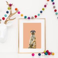 Geometric meerkat print