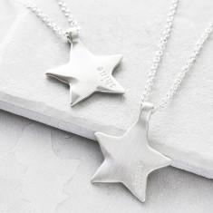 Silver Maxi Shine Star Pendant