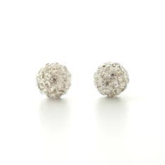 Sparkling ball stud earrings